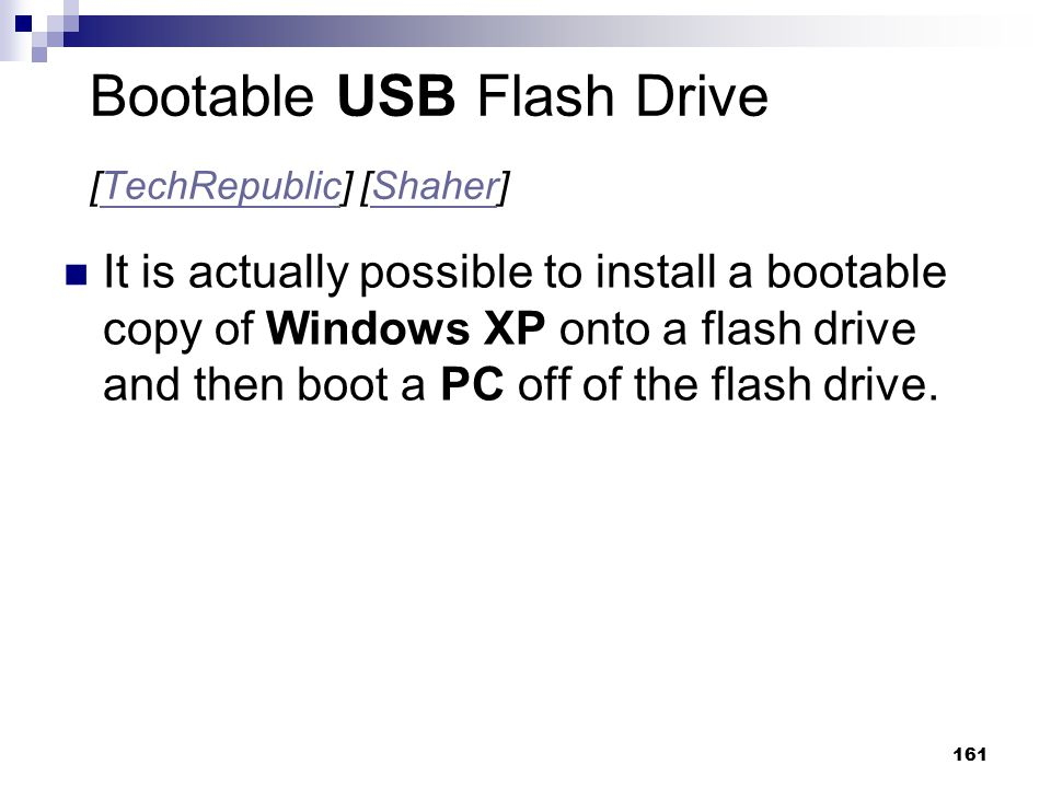 Bootable USB Flash Drive [TechRepublic] [Shaher]